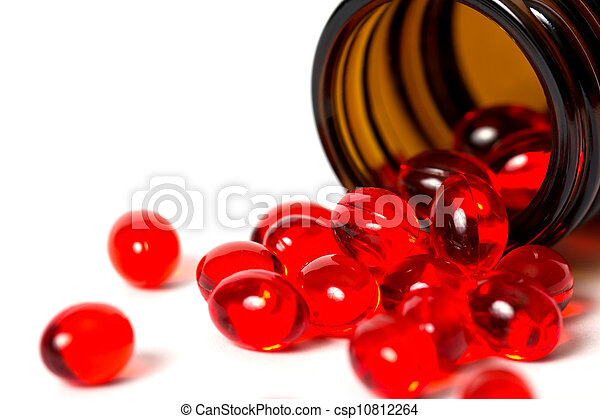 Pills on a white background - csp10812264
