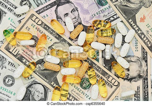 pills on US money - csp6355640