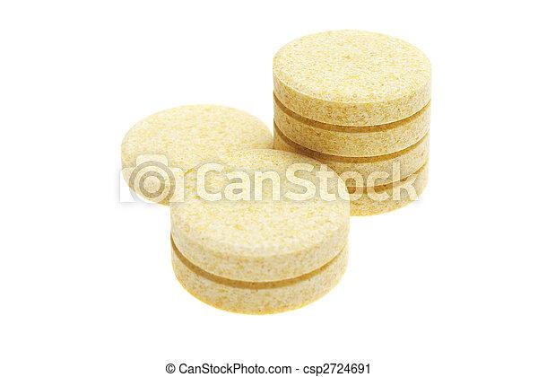 pills on white background - csp2724691