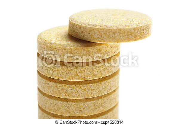 pills on white background - csp4520814