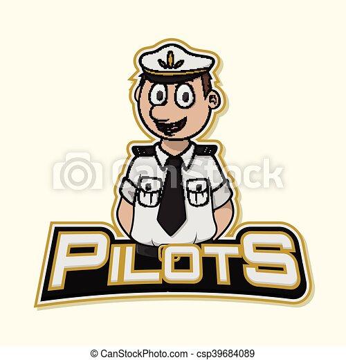 pilot logo illustration design - csp39684089
