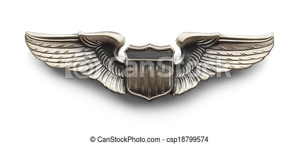 Pilot Wings Images, Stock Photos & Vectors   Shutterstock