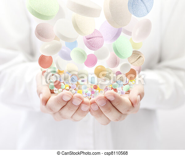 pilules, coloré - csp8110568