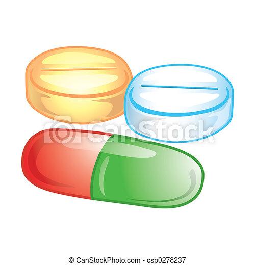 pilules, icône - csp0278237