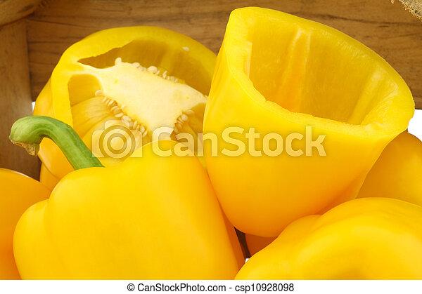 pimentas, (capsicum), amarela, sino - csp10928098