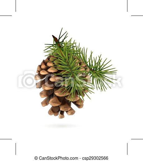 pin, branche, cône - csp29302566
