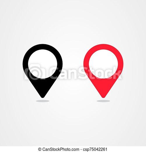 Pin location icon vector design - csp75042261