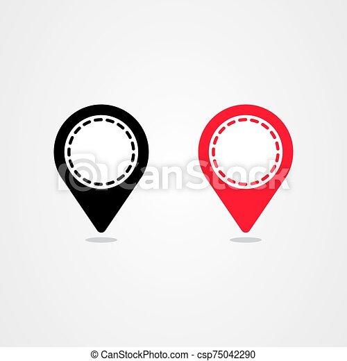 Pin location icon vector design - csp75042290