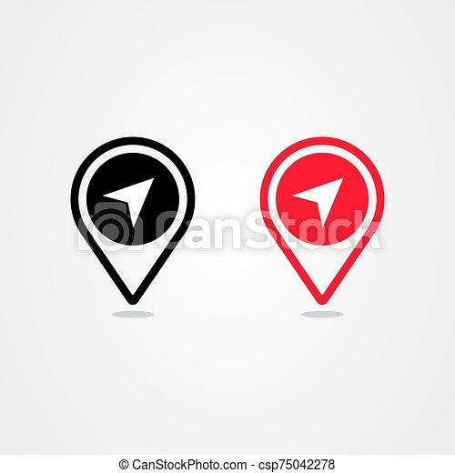 Pin location icon vector design - csp75042278
