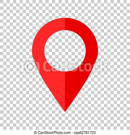 Pin map icon in flat style. Gps navigation vector illustration on isolated background. Target destination business concept. - csp62781723
