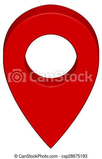 Pin map icon - csp28675193