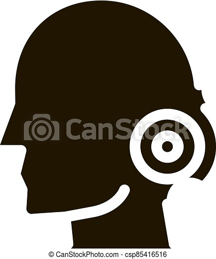 Pin nape pain man silhouette headache glyph icon . tension ...