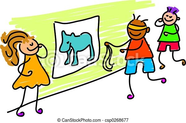 pin tail on donkey - csp0268677
