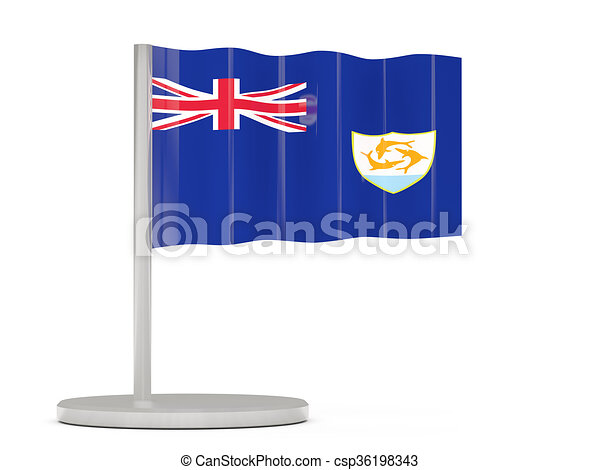 Pin with flag of anguilla - csp36198343