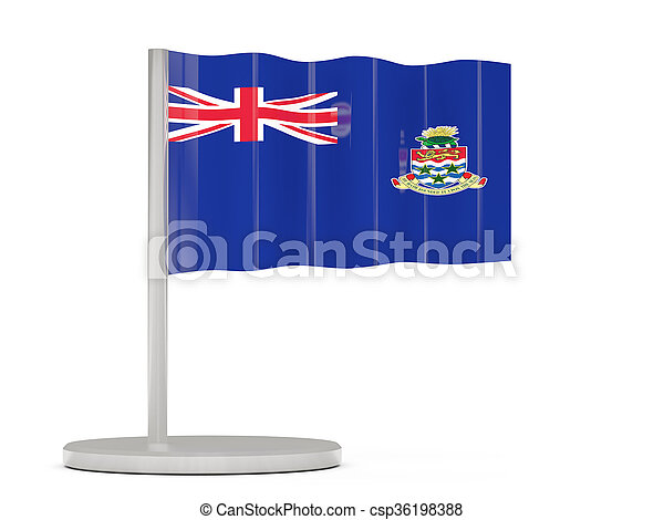 Pin with flag of cayman islands - csp36198388
