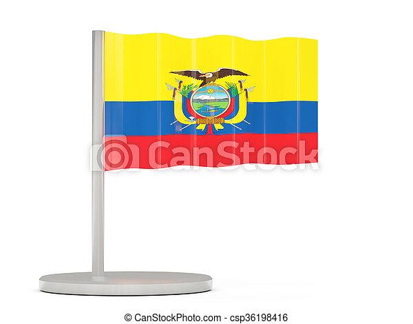 Pin with flag of ecuador - csp36198416