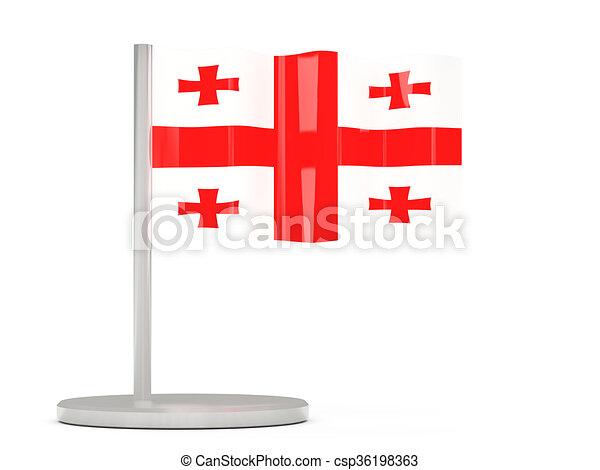 Pin with flag of georgia - csp36198363