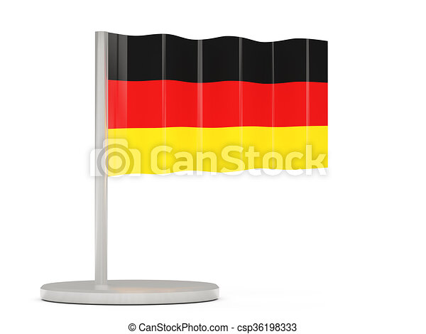 Pin with flag of germany - csp36198333