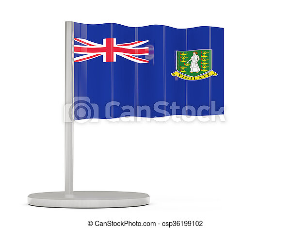 Pin with flag of virgin islands british - csp36199102