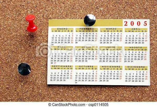 Pinboard Calendar - csp0114505
