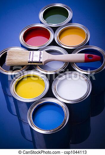 Pintura y cepillo - csp1044113