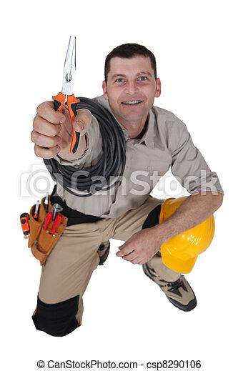 pinces, électricien - csp8290106
