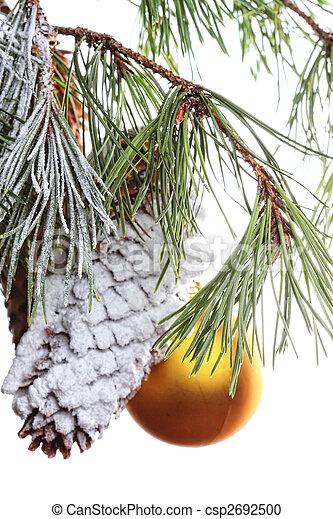 Pine branch decorated - csp2692500
