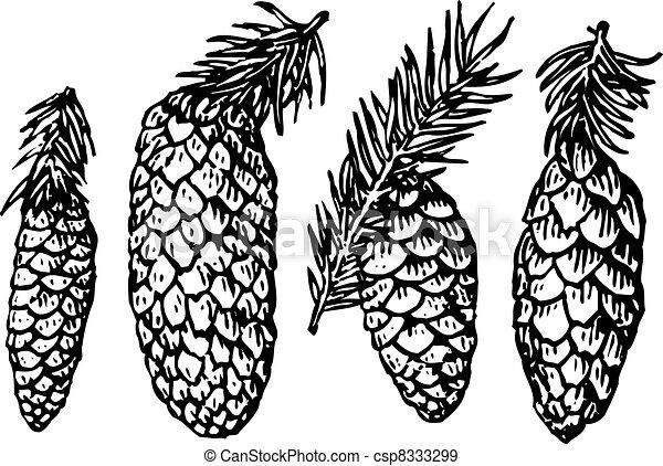 Pine cones - csp8333299