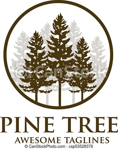 Pine tree outdoor travel green silhouette forest logo ...