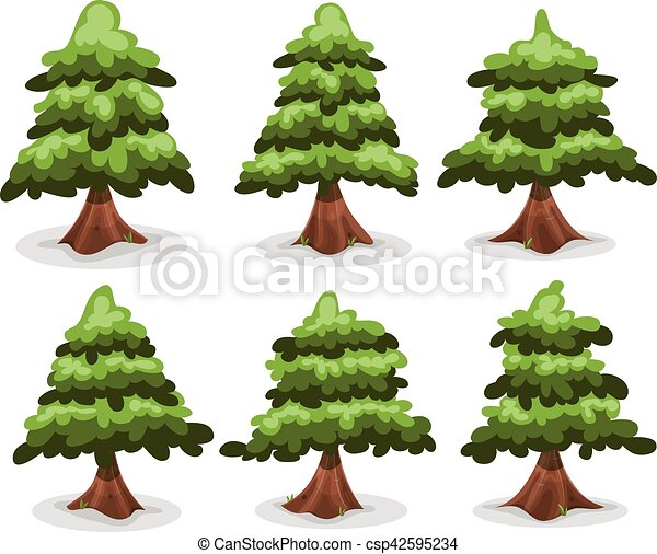 Pine Trees And Firs Collection - csp42595234