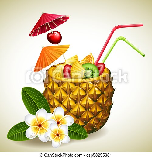 pineapple cocktail - csp58255381