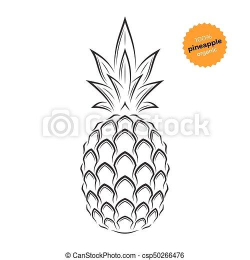pineapple emblem label symbol template for stores markets food