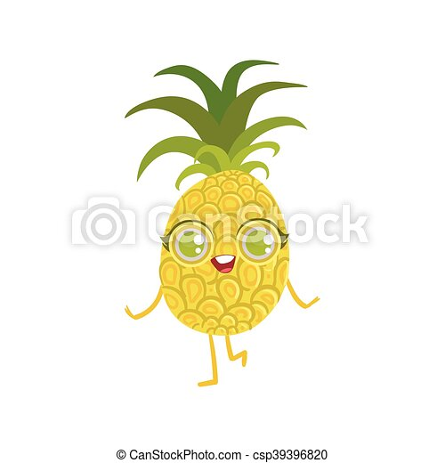 Pineapple Girly Cartoon Character - csp39396820