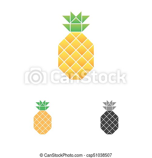 pineapple logo template fruit logotype food emblem vector