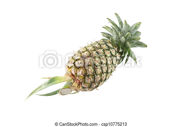 Pineapple on white background. - csp10775213