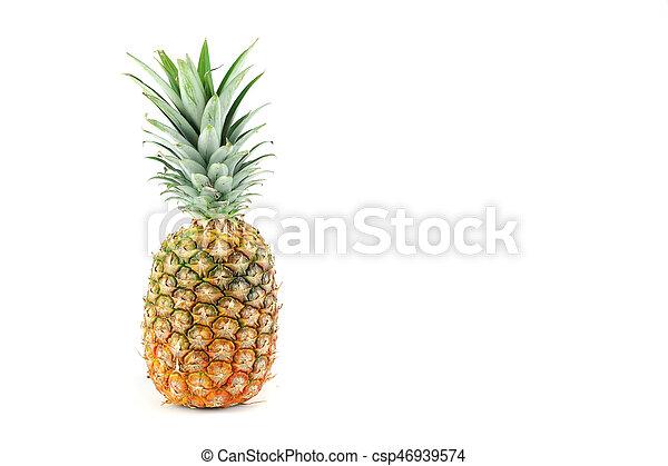 pineapple on white background - csp46939574