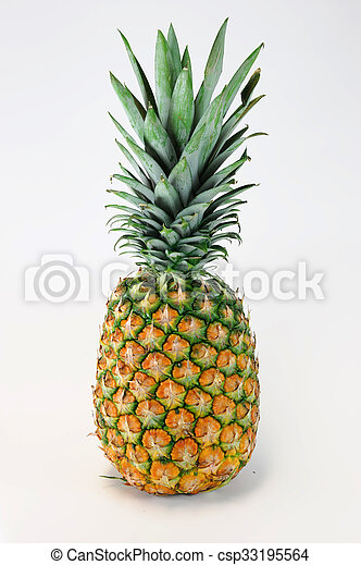 pineapple on white background - csp33195564