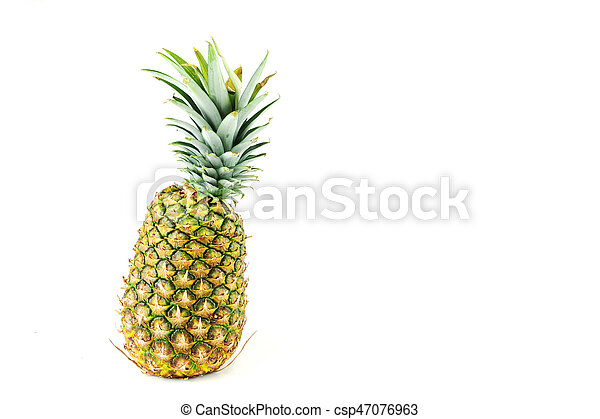 pineapple on white background - csp47076963