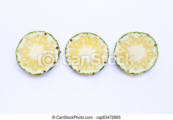 Pineapple on white background. - csp63472665