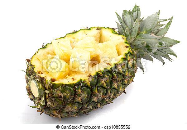 pineapple on white background - csp10835552