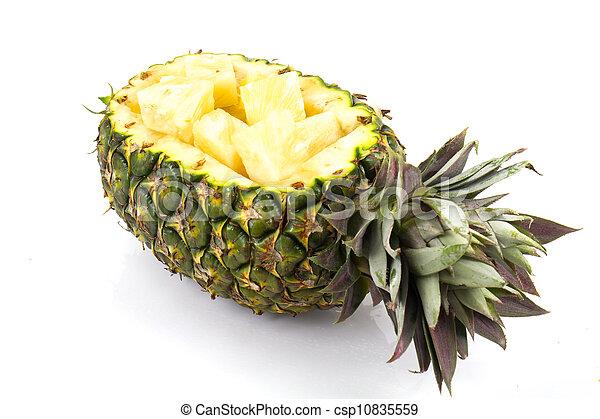 pineapple on white background - csp10835559