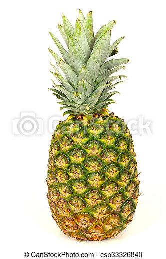 Pineapple on white background - csp33326840
