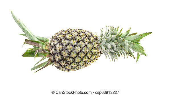 Pineapple on white background - csp68913227