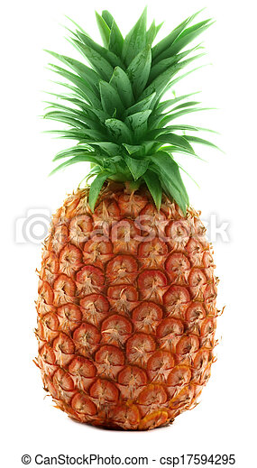 Pineapple on white background - csp17594295