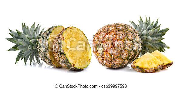 pineapple on white background - csp39997593