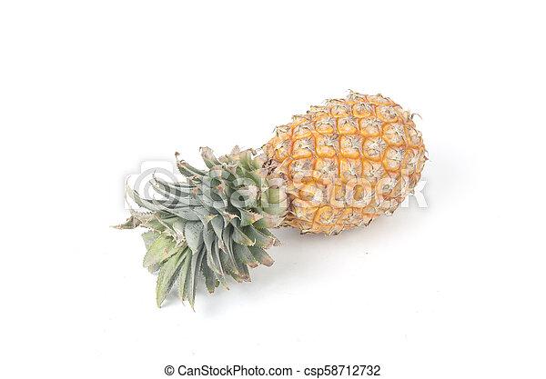 Pineapple on white background - csp58712732