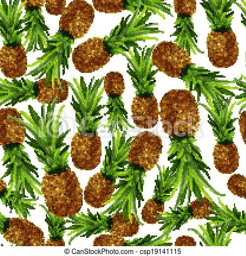 Pineapple seamless pattern - csp19141115