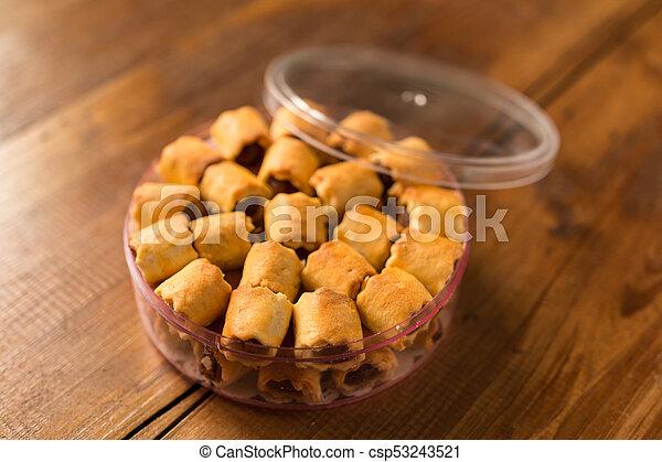 Pineapple tarts cookies - csp53243521