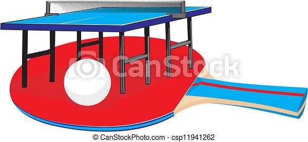 ping-pong, -, équipement - csp11941262