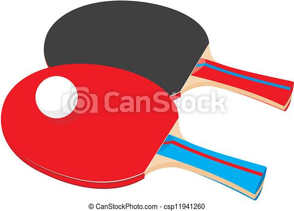 ping-pong, -, deux, raquettes - csp11941260